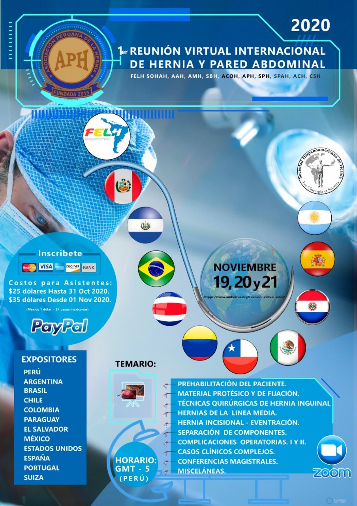 1ra Reunión internacional virtual de hernia FELH/SOHAH