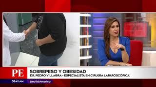 Entrevista al Dr Villagra por América TV acerca del Sobrepeso y Obesidad